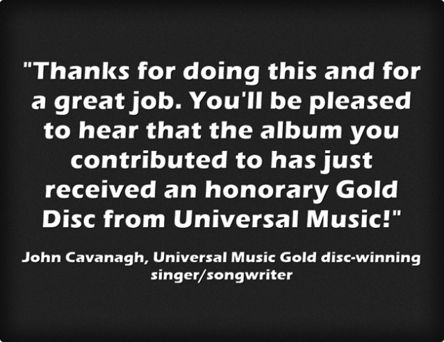session guitar track testimonial recommended. Top UK online session guitar tracks