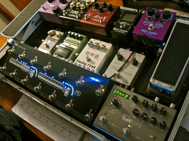 GigRig G2, Strymon, Sweetsound, Effectrode, Way Huge session guitar board