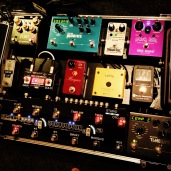 Session guitarist pedalboard, gigrig, way huge, strymon, marquis, dinosaural, turbo tuner, online session guitar recordings